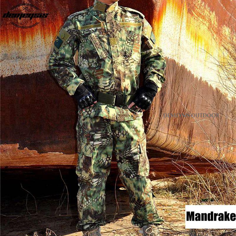 12 Rəngli kamuflyaj hərbi taktiki kostyumlar Ordu Hərbi Uniforma - İdman geyimləri və aksesuarları - Fotoqrafiya 5