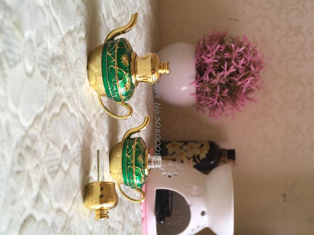 Stile cinese teiera verde bottiglie di vetro bottiglie di olio essenziale aromatico retro fiaschetta 3 ml