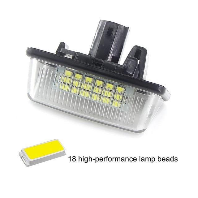 2 uds LED blanco luz de placa de matrícula bombilla Canbus para Toyota Corolla_E11 corona S180 estrella EP91 Vios Previa ACR50... GSR50