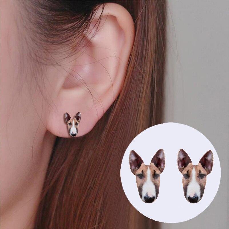 Yiustar Fashion Jewelry Bull Terrier Stud Earrings Vintage Cute Dog Earrings Bull Dog Dn ...