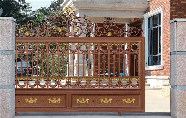 Home Aluminium Gate Design / Steel Sliding Gate / Aluminum Fence Gate Designs Hc-ag12