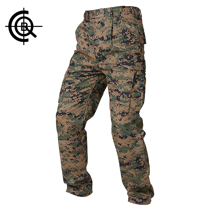 ФОТО CQB Tactical Pants Camouflage Multi Pockets Trousers Hiking Hunting Outdoor Sports Military Camping trousers Mens Pants MCK0085