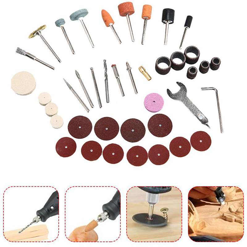 Image 2 - 40pcs/Set Electric Grinder Rotary Tool Accessory Bit Set For Grinding Sanding Polishing Disc Wheel Tip Cutter Drill Disc-in Abrasive Tools from Tools