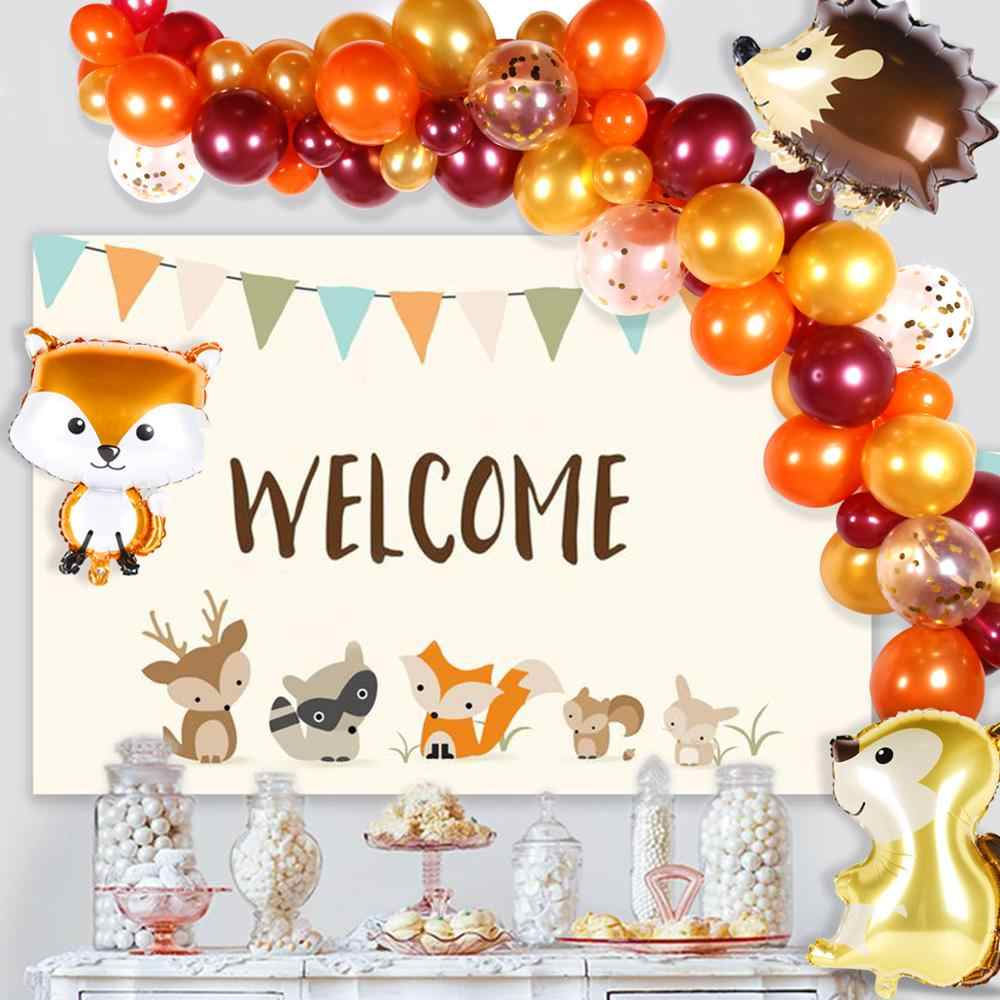 QIFU 39 шт лиса воздушный шар-белка лесные животные декор для вечеринки в честь Дня Рождения джунгли сафари вечерние поставки лесной вечерние детского дня рождения