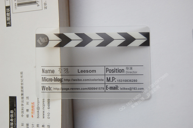 Mat Finition Plastique Transparent Cartes De Visite Et Nom Carte
