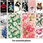 TAOYUNXI For Essential Phone Case For Essential PH-1 Phone Ph 1 ph1 Cover Silicone Panited Owl Cat Flower Cute Animal Patterned