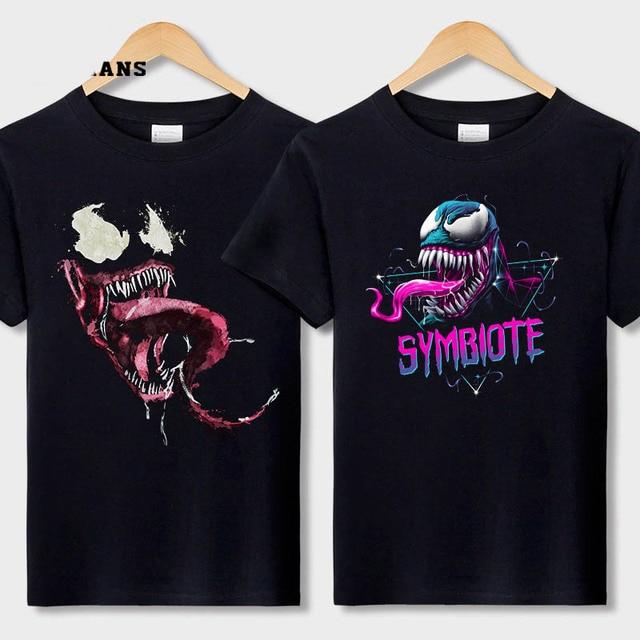 84689c331a04d8 Venom T shirt Harajuku Fashion Tshirt Men Originality Spiderman Cotton  Fitness T-shirt EU Size Anime Marvel