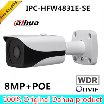 DAHUA OEM 4k 8MP IP Camera IPC-HFW4831E-SE repalce IPC-HFW4830E-S IR IP67 IK10 POE Mini Bullet Network Camera IP67 IK10 POE