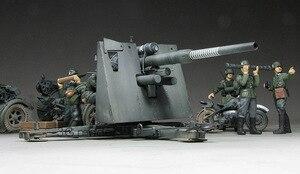 Image 3 - 1:35 모델 구축 키트 독일 88mm 건 플랙 36/37 w/9 피규어 ks750 군용 탱크 어셈블리 tamiya 35017