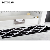 ZGTGLAD 1Pcs 45x120cm Soft Indoor Modern Area Non slip Carpet Fluffy Living Room Carpets Suitable Bathroom Bedroom Decor Rugs