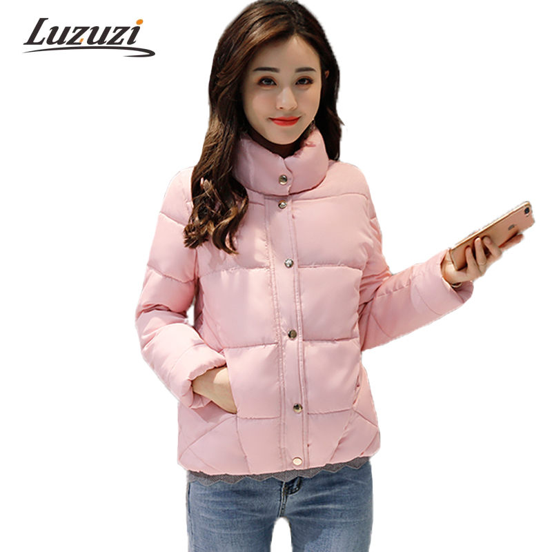 2017 New Winter Coats Women Winter Short Parkas Female Autumn Cotton Padded Jackets Wadded Outwear  abrigos mujer invierno W1492 women s thick warm long winter jacket women parkas 2017 faux fur collar hooded cotton padded coat female cotton coats pw1038