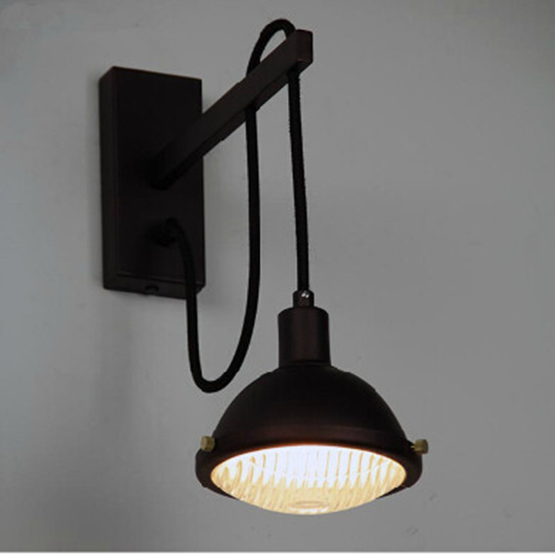 Aliexpress.com : Buy Vintage Wall Lamp Adjustable Industrial Wall Sconce Warehouse Black Wall ...
