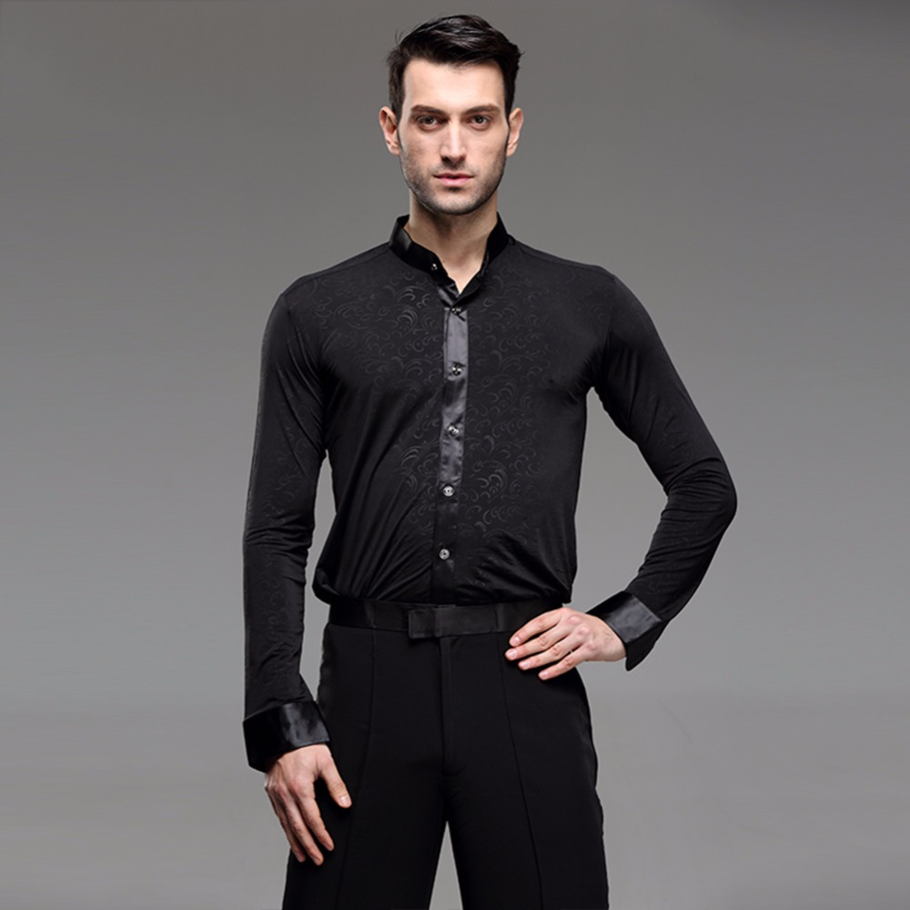 261c01b5f 2018 Latin Top Dancing Clothes Latina Dress Men Dance Shirts Ballroom Dance  Clothing Men Vestido Dancer Party Dresses-in Latin from Novelty & Special  Use on ...