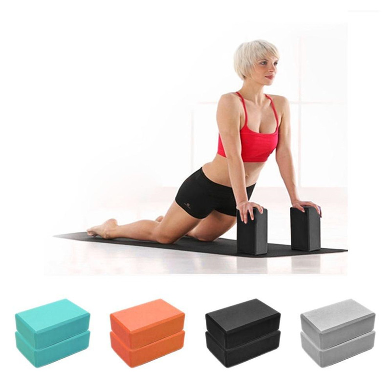 1Pc Yoga Block Exercise Workout Fitness Brick Bolster Pillow Cushion Stretch-Resistant EVA Foam Aid Gym Training Body Shaping