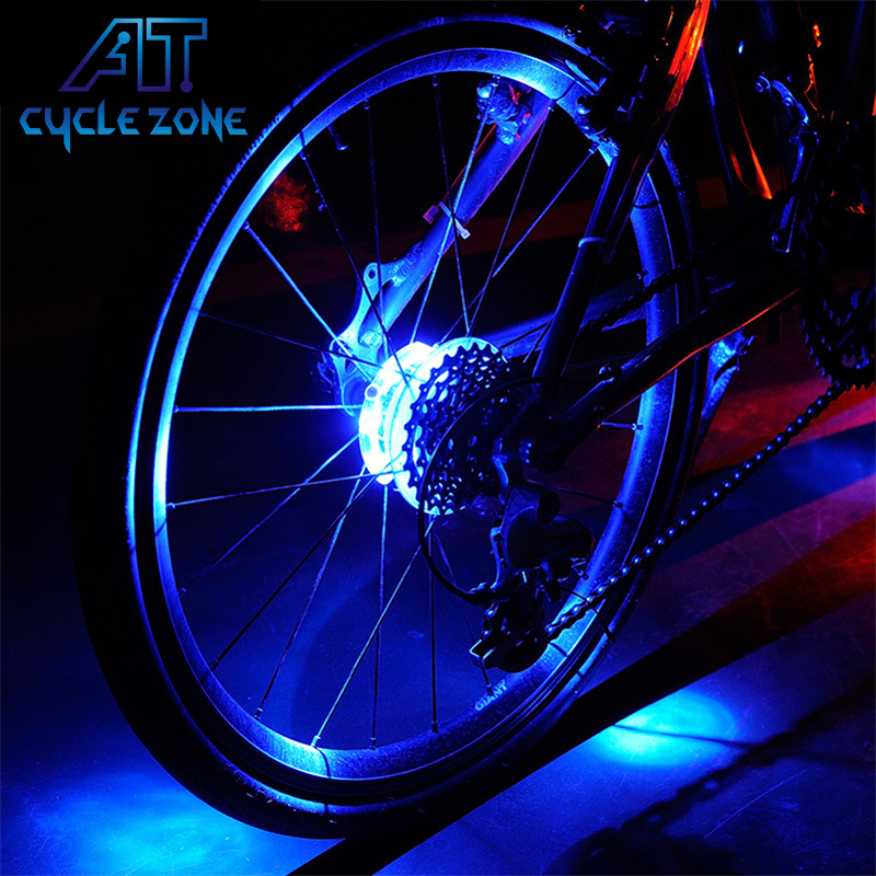 Cycle Zone UFO Waterproof Cycling Hubs Light Bike LED Wheel Lamp Front Rear Spoke Decoration Warning Bicycle Cycling Hub Light wheel up bike head light cycling bicycle led light waterproof bell head wheel multifunction mtb lights lamp headlight m3014