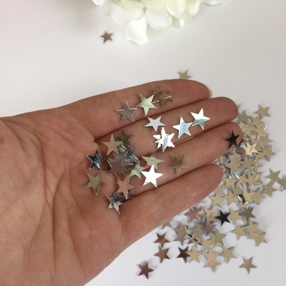 10mm Prata Estrelas GRANDE MISTA Pacote de Mesa da Festa de Casamento Confetti  Decoração de Mesa 7c9ad370fae11