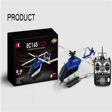 Wholesale latest high quality WLtoys XK K124 6CH Brushless EC145 3D6G System RC Helicopter RTF VS XK K110 K123  WLtoys V922