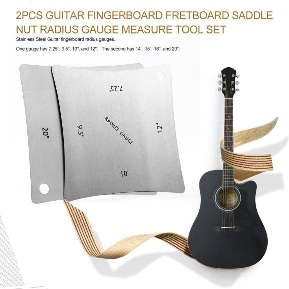 Stringed Instruments 2pcs Guitar Fingerboard Fretboard Saddle Nut Radius Gauge Measuring Stainless Steel Tool Sports & Entertainment
