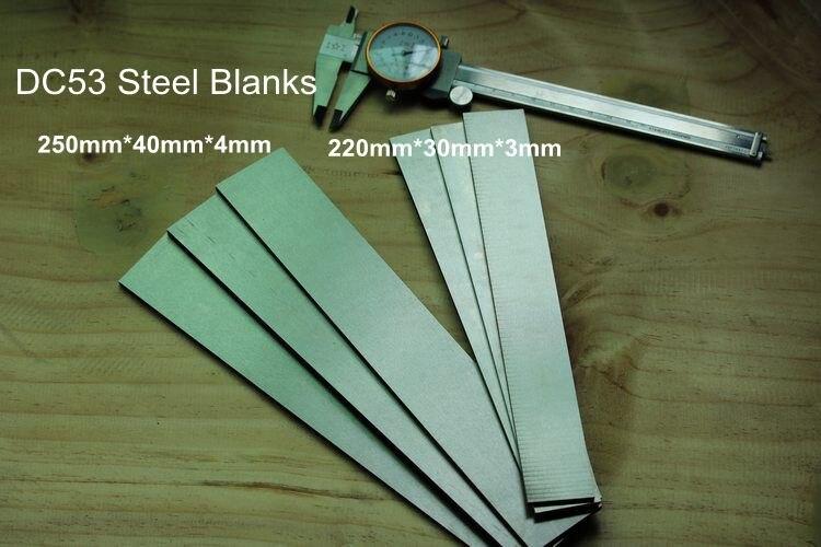 Sweden DC53 steel blanks  knife making steel HRC62 Knife DIY blade steel bar blanks (ASSAB88)|blank knife|blank bar|blank steel - title=