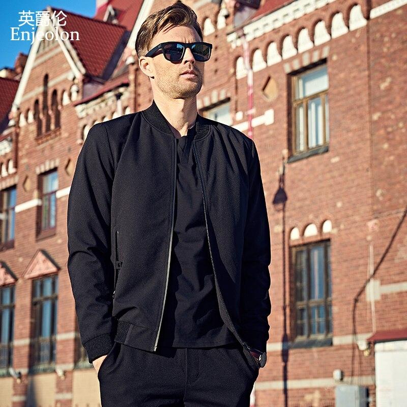 Casual Bomber Acheter Hommes Vestes Brand Noir Manteau New Enjeolon HqqPZwt
