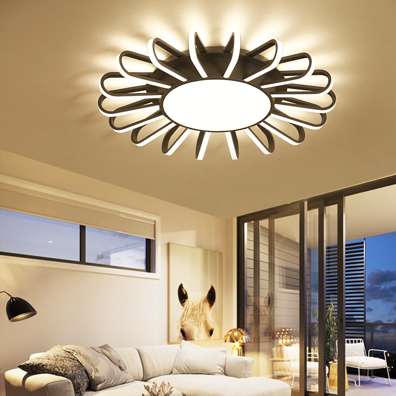 New Dimming LED Ceiling Lights For Living Room luminaria abajur Indoor Lights Fixture Ceiling Lamp For Home Decorative Lampshade