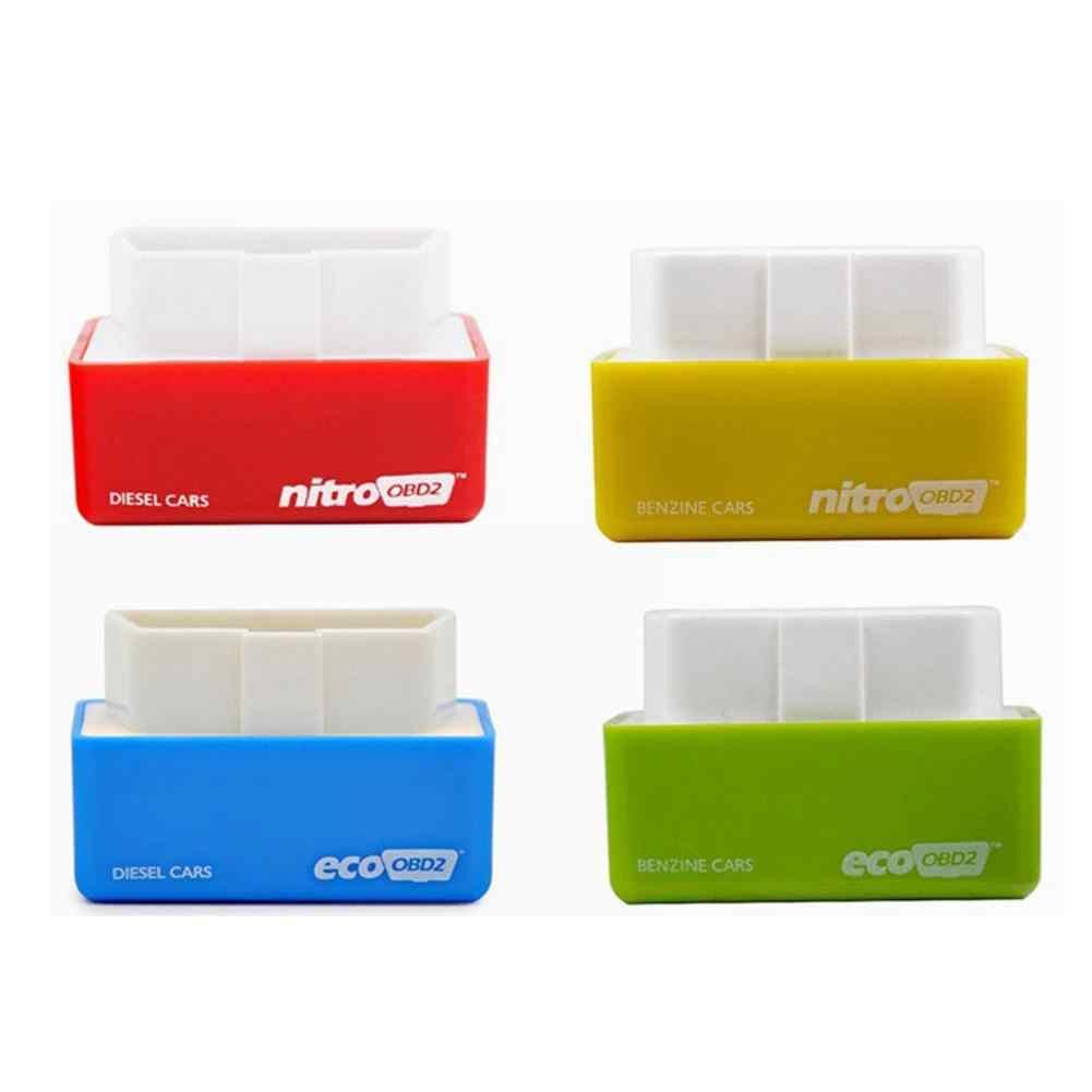 Haute qualité lecteur Nitro EC0 OBD2 puce Tuning Box Plug Driver pour voitures carburant économiser plus de puissance pièces automobiles professionnelles