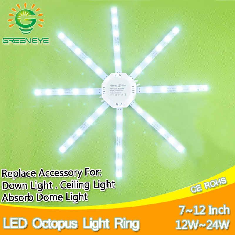 12W 16W 20W 24W LED Downlight Aksesori Gurita Digital Cincin Cahaya LED Lampu 220V untuk Lampu Langit-langit Menyerap Dome Ganti