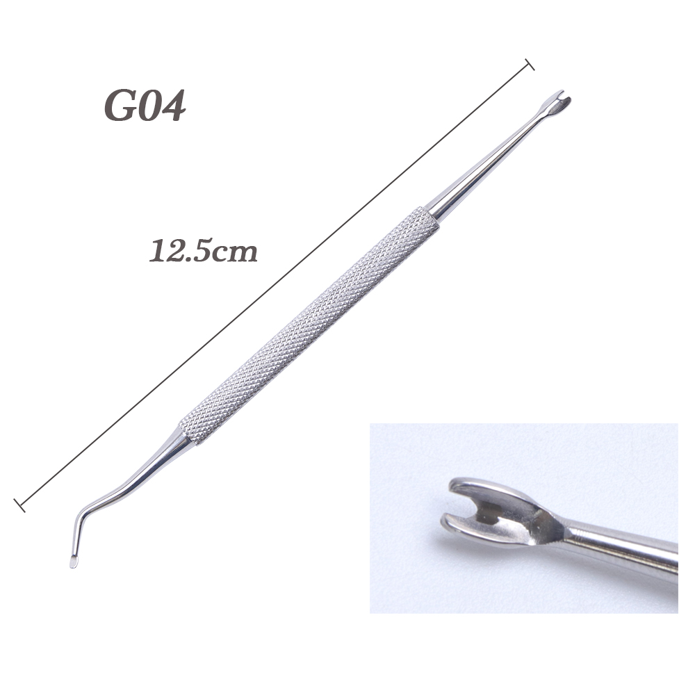 1pcs Dual ended Nail Cuticle Remover Pusher Stainless Steel Spoon Stick Gel Nail Nippers Dead Skin Push Tools Manicure BEG01 07 in Nail Art Equipment from Beauty Health