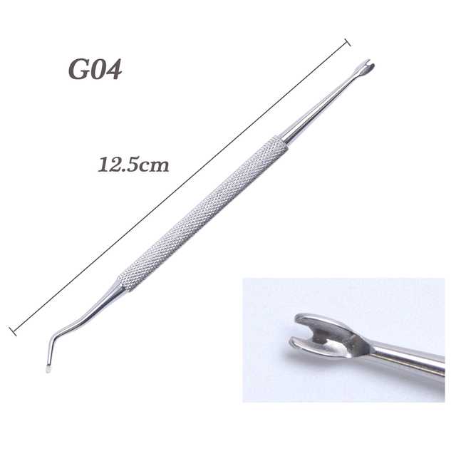 1pcs Dual-ended Nail Cuticle Remover Pusher Stainless Steel Spoon Stick Gel Nail Nippers Dead Skin Push Tools Manicure BEG01-07