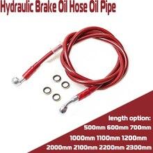 купить Motorcycle Hydraulic Brake line Oil Hose Tube Universal For Dirt Pit Bike Motorcross Moped scooter Cub ATV Quad UTV Go Kart дешево