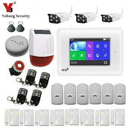 Yobang Security WIFI 3G WCDMA RFID Home Security Alarm System APP Control Burglar Security Alarm KIT IP Camera Fire Smoke Sensor