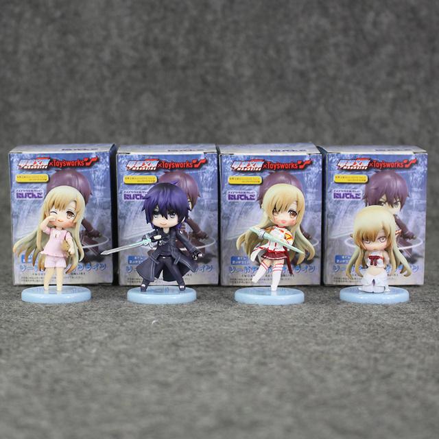 4Pcs Sword Art Online Figure Set