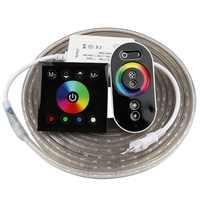 2 dedos de control remoto RGB tira de LED 220 V 220 V tira de luz LED impermeable 60 leds/m cinta 5050 cinta ledstrip cinta IL