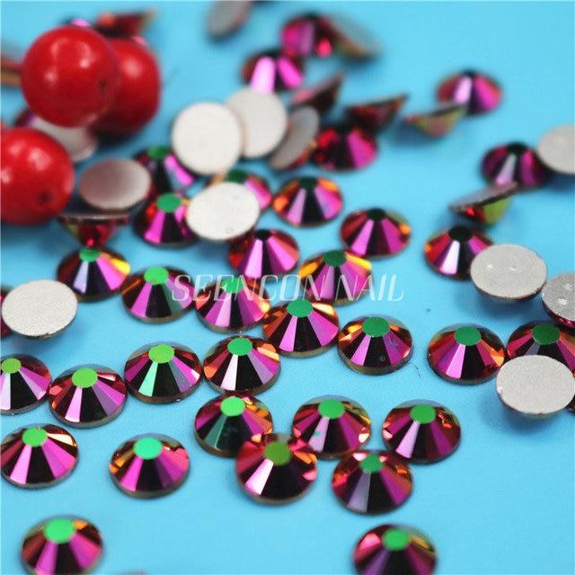 1440pcs lot Crystal Rainbow Rose Gold Non Hotfix Flatback Rhinestones for  DIY Nails 3D Nail Art Decoration Glitter Gems Beads f9d2616e6958