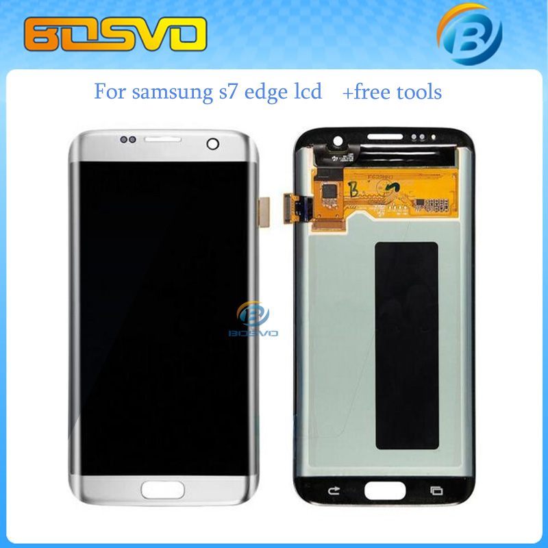 Free DHL EMS shipping 5/pcs Replacement lcd display +touch screen digitizer for Samsung for galaxy S7 edge G9350 G935F assembly brand new for samsung s7 edge g9350 g935 g935f g935fd lcd screen display with touch digitizer replacement assembly free shipping