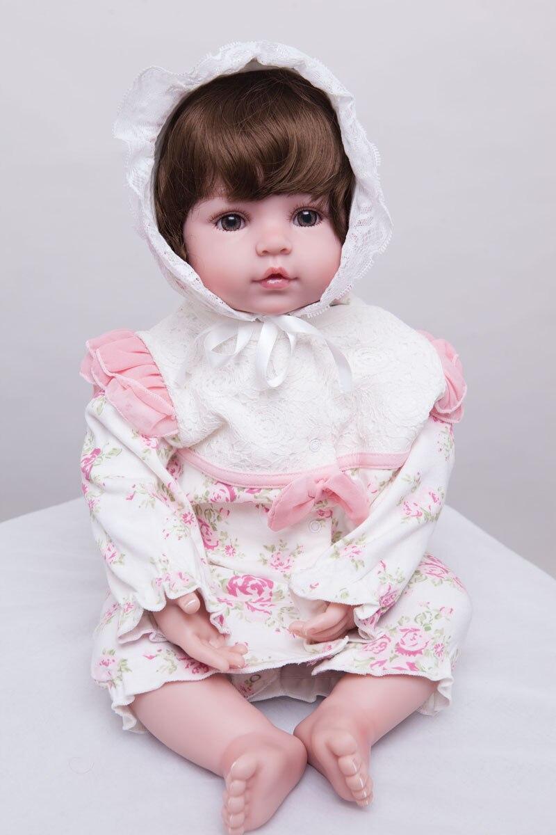 55cm silikonske preporođene dijete lutka igračke Lifelike vinil - Lutke i pribor - Foto 6