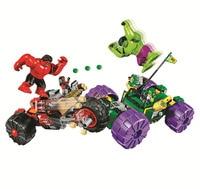 BELA Batman Super Heroes Hulk vs Red Hulk Building Blocks kits Bricks Movie Model Kids Classic Toys Marvel Compatible Legoings