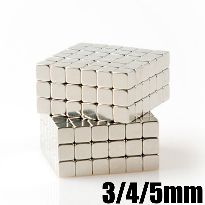 216Pcs Neodymium Magnet Buck Cube 3mm 4mm 5mm Box Packed Permanent N35 Super Strong Powerful Magnetic Magnets Block Square nh 216b n35 mini 4mm square magnetic block puzzle novelty toy for diy 216pcs
