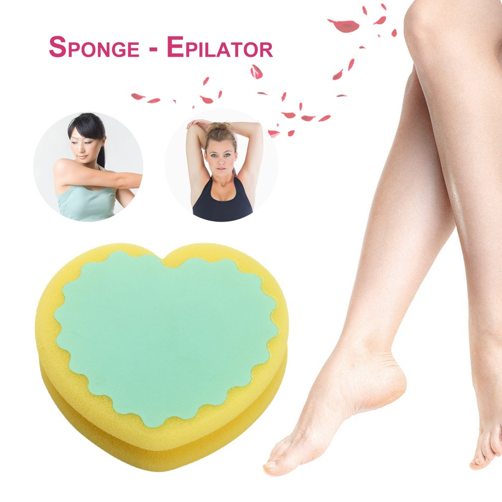 Have An Inquiring Mind 2018 Heart Shape Painless Hair Removal Depilation Sponge Double-sided Pad Waxing Polishing Face Arm Leg Hair Removal Tool 2019 New Fashion Style Online Hair Removal Cream