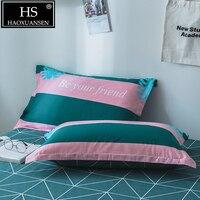 2 Piece Striped Print Pillowcase Natural 100% Cotton Fresh Nordic Style Pillow Cover Fashion Bedding Pillow Case 48x74cm