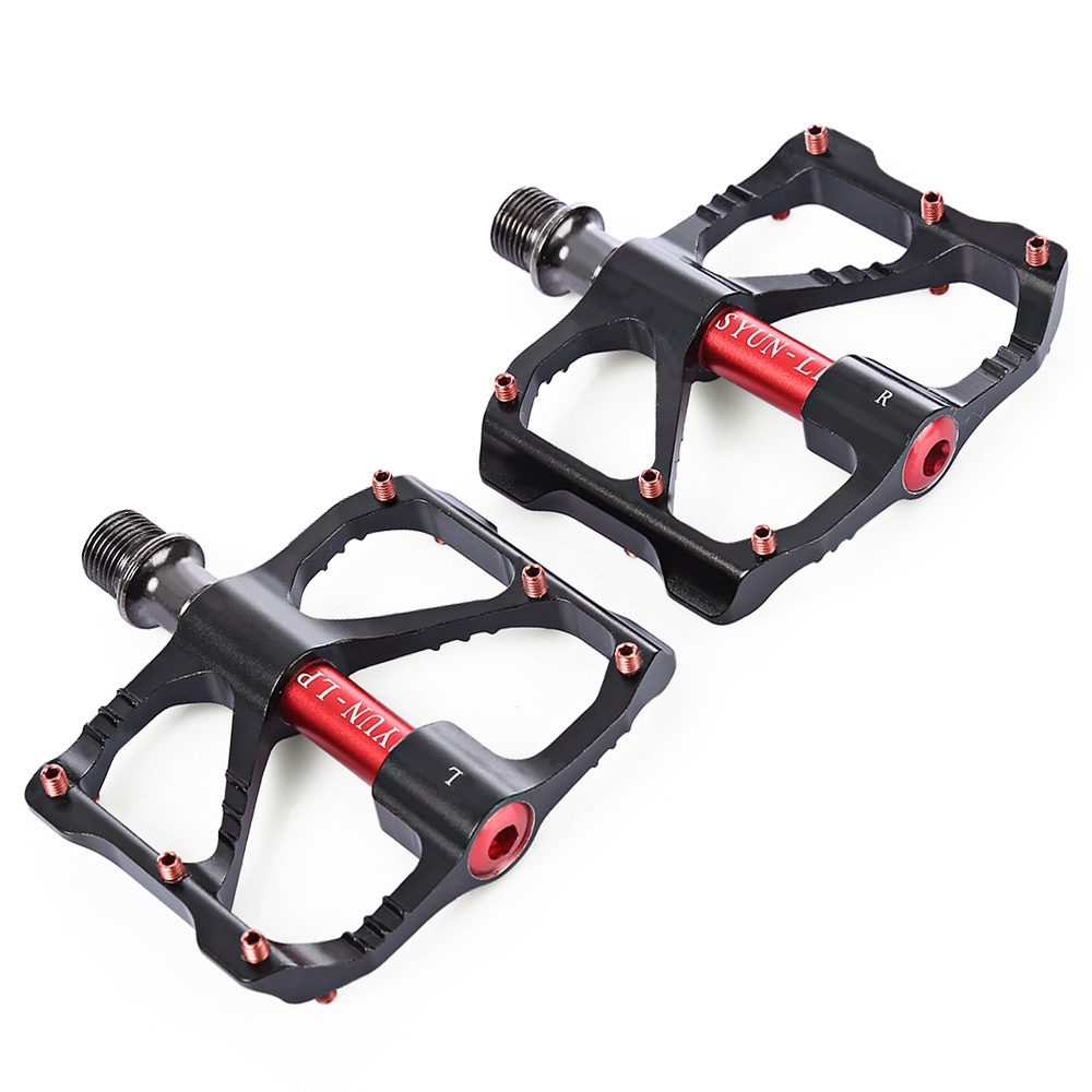 cycling pedals syun lp paired bicycle pedals aluminum. Black Bedroom Furniture Sets. Home Design Ideas