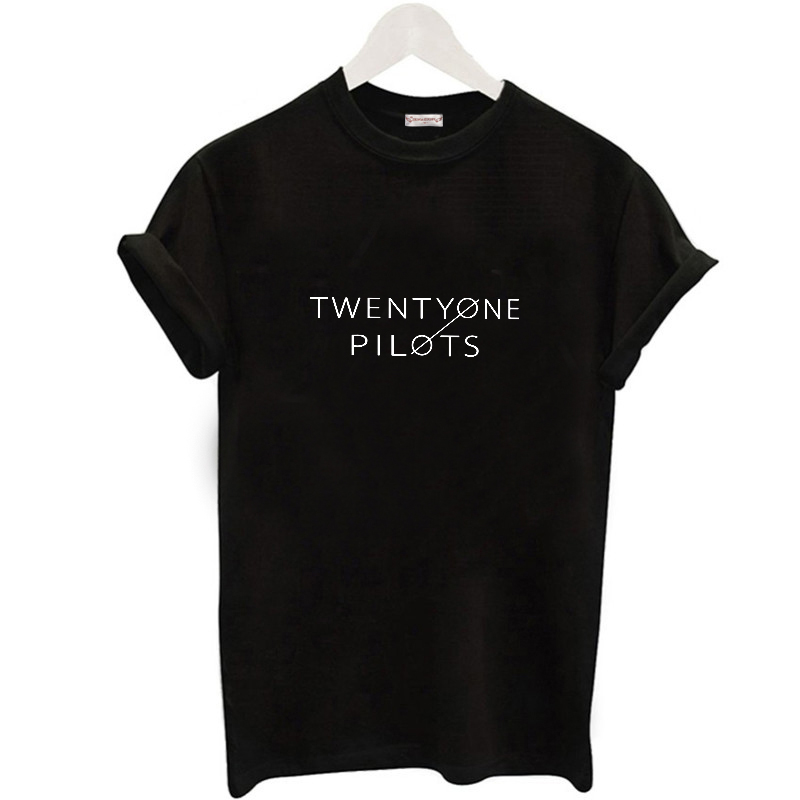 2017 Summer Twenty One Pilots Printed Women s T Shirt Harajuku Solid Short Sleeve Top Tees