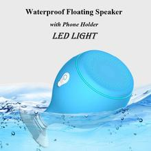 Portable Bluetooth Speaker LED Light Waterproof Floating Pool Bath Spa Shower Speakers With Bottom Sucker