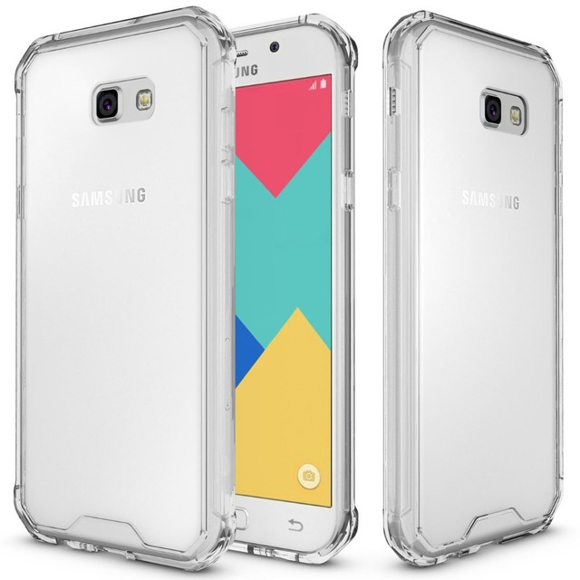 low priced 2c6da 65522 US $2.99 25% OFF For Samsung Galaxy A7 2017 A720 Case Crystal Hybrid Bumper  Clear Hard Acrylic Back Cover Transparent TPU +PC Phone Cases-in Fitted ...