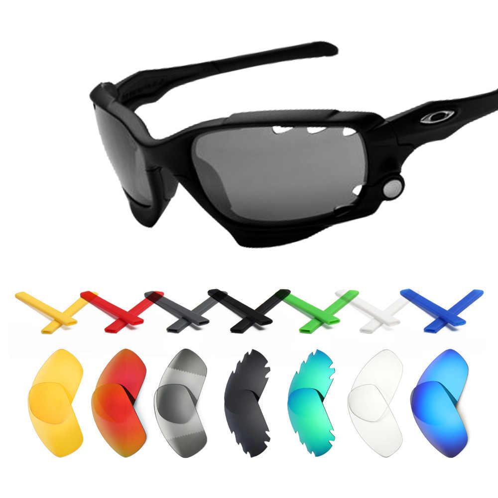 f442a0a7c2 Mryok lentes de repuesto y calcetines de oreja negra Kit para-gafas de sol  Oakley