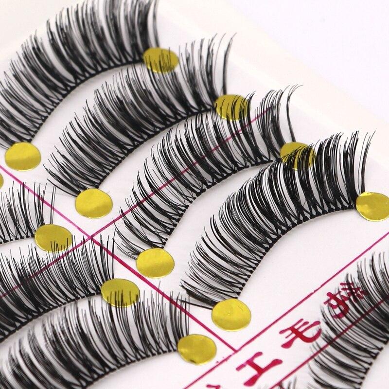 10pair Makeup False Eyelashes Individual Mink Eyelash Eye Lashes Makeup Lashes For Building Style False Lashes Extension Tools