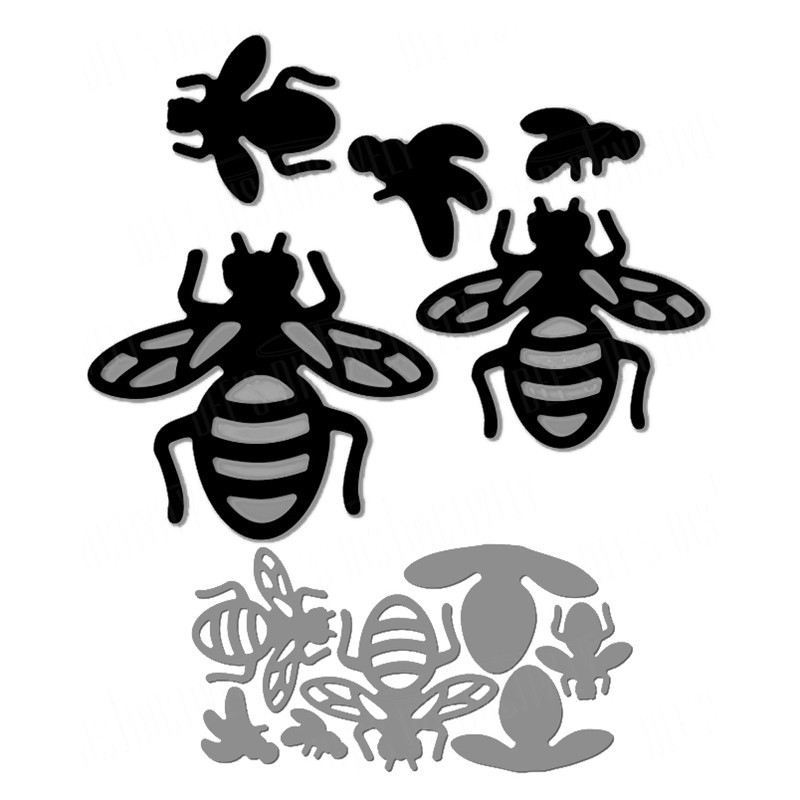 YaMinSanNiO Flower and Bee Dies  Animal Metal Cutting for Card Making Scrapbooking Album Embossing Craft New 2019