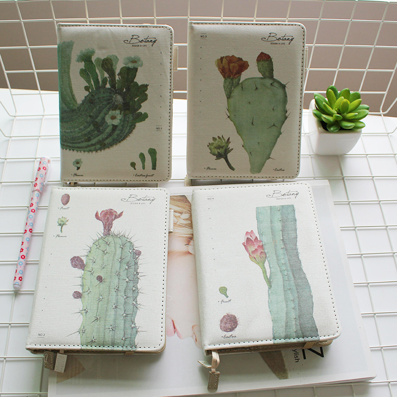 JOUDOO Creative Plant painting Pu Leather Schedule Book Diary Weekly Monthly Planner Organizer Notebook Kawaii new arrival weekly planner thumb girl notebook creative student schedule diary book color pages school supplies no year limit