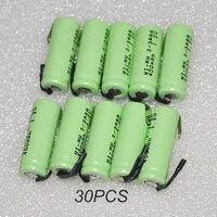 30 шт. UNITEK 1.2 В 2/3aaa аккумуляторная батарея 400 мАч 2/3 AAA Ni-MH ячейки со сваркой вкладки контакты без каблука топ для игрушки беспроводной телефон