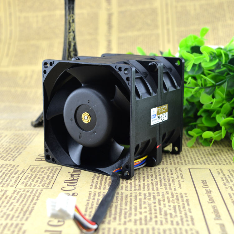 Free Delivery. DFTA0880Y2U 12 v 7.2 A 8 cm 8080 automobile refitting pressurization double motor fan violence